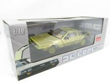 Sunstar 2702 De Lorean 1981 Back To The Future Gold Edition 1 18 Scale Boxed