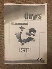 Tage medizinische Strider ST1 ST-1 Elektromobil Betriebsanleitung Anleitung Handbuch