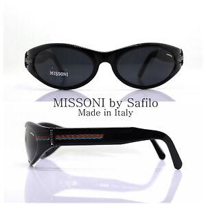 Missoni M270 By Safilo Sunglasses Men Oval Wrap Black Vintage 90s