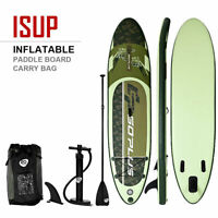 11' Inflatable Stand up Paddle Board Surfboard SUP W/ Bag Adjustable Paddle Fin