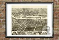 Old Map of Batavia, IL from 1869 - Vintage Illinois Art, Historic Decor
