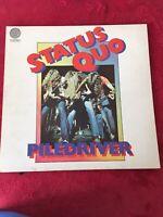 Status Quo Piledriver - 1st - EX vinyl LP album record UK 6360082 VERTIGO 1972