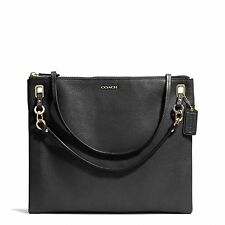New Coach Madison Convertible Hippie Black Leather Crossbody 51011 Bag Purse