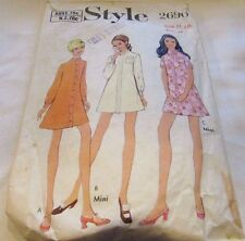 Vintage Original 60's  Ladies Dresses Style Sewing Pattern Size 11 Cut