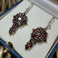 GEMPORIA STERLING SILVER EARRINGS, NATURAL MOZAMBIQUE RED GARNET GEMSTONES, TGGC