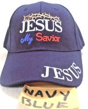 RELIGIOUS BALL CAP  NEW  JESUS MY SAVIOR  NAVYBLUE  HAT CHRISTIAN