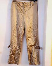 Neu * Airfield Damen Hose im Metalleffekt Beige Größe 34