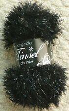 King Cole Tinsel Chunky 50gm Balls 29 Colours Single Postage 230 Black