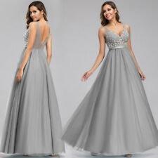 Ever-Pretty US Applique Long Bridesmaid Dress Celebrity Formal Evening Ball Gown