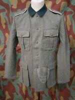 Feldbluse M36 giacca tedesca uniforme militare, WW2 German wool field jacket WH
