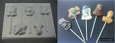 STAR WARS Chewy Darth Vader Yoda R2D2 C3PO Chocolate Candy Lollipop Soap Mold