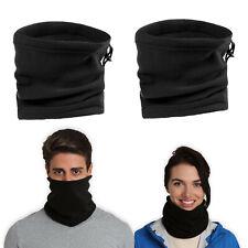 2X Unisex Polar Fleece Neck Warmer Snood Scarf Hat Thermal Ski Wear