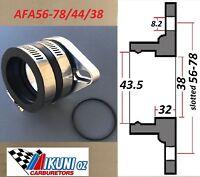 Mikuni Carb Mounting Flange/ Manifold 38mm/Boot 43.5mm ID, 56-78mm Stud centers