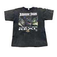 VINTAGE Jurassic Park Shirt Mens XL Black Single Stitch 90s Movies USA