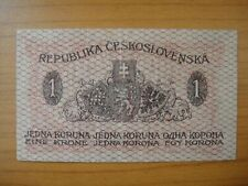 Banknote Tchécoslovaquie,Czechoslovakia, 1 krone, 1919