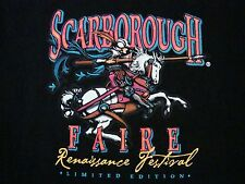 Scarborough Faire Renaissance Festival Knights Kingdom Castles T Shirt L