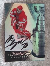 10/11 The Cup Stanley Cup Signatures Chris Osgood Blank Back Test Card 1/1