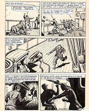 BOB DAN PLANCHE ORIGINALE JACK SPORT ARTIMA ANNEES 1950 PAGE 9 (SIGNEE)