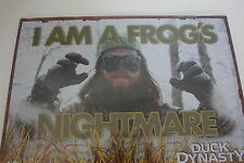 "DUCK DYNASTY Tin Sign A&E ""Frog's Nightmare"" 17"" X 12"" NEW"