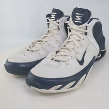 Nike Shox Mens White Black Lace Up Mid Top Sneaker Athletic Shoes Size US 14