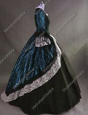 Renaissance Brocade Masquerade Gown Dress Steampunk Reenactment Wear N 164 Xxxl