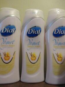 Lot of 3 Dial Yogurt Vanilla Honey Body Wash Shower Gel body wash 16 oz