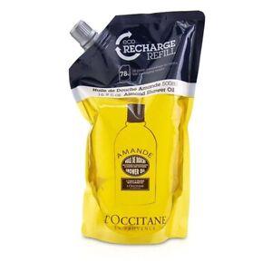 L'Occitane Almond Cleansing & Softening Shower Oil (Eco-Refill) 500ml Womens