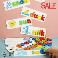English Spelling Toy Wooden Cardboard Alphabet Game Education Educational
