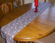 Christmas Reindeer Table Runner SILVER GREY 180cm x 26cm Decoration straight