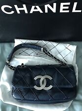 chanel blue leather bag