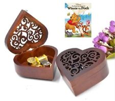 ♫ Winnie The Pooh  ♫   Heart Wooden Wind Up Music Box