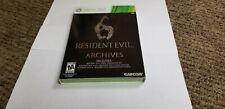 Resident Evil 6 Archives (Microsoft Xbox 360, 2012) new