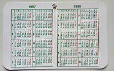 Vintage ROLEX  Calendar 1997/1998 OEM 67180 68628 16518 16523 16600 16520 16528
