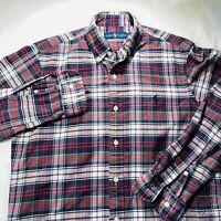 Polo Ralph Lauren Mens Long Sleeve Button Down Dress Shirt Plaid Size Small