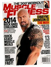 MUSCLE & FITNESS bodybuilding magazine/WWE/The Rock Dwayne Johnson 3-14