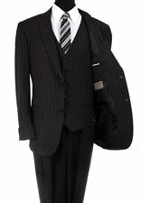 Two Button Regular Size Striped Suits for Men with 40 Waist