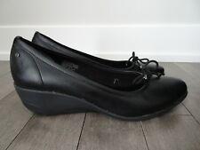 NEW Rockport adiPrene Adidas Black Leather Wedge Ballet Shoes Women 10