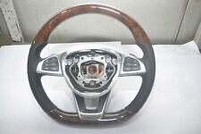 Steering Wheel Mercedes W205 AMG Sport Leather Wood Grain Trim Black Paddles