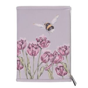 Wrendale Flight of the Bee Wallet Notebook - Zipped Pouch Wallet with Jotter Pad