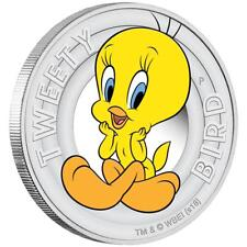 Tuvalu 50 Cents 2018 - Tweety Bird™ - Looney Tunes™ (3.) - 1/2 Oz Silber PP