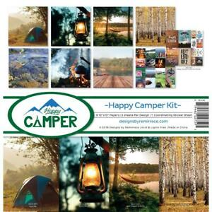 HAPPY CAMPER CAMPING Collection Kit 12X12 Scrapbooking Kit REMINISCE HCA-200 New
