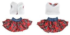 E-Ting Santa Couture Clothing for elf (Fluffy Vest+ Plaid Skirt) Doll is.