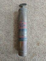 Antique Brass Fyr-Fyter Fire Extinguisher 1-1/2 qt