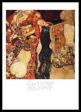 Gustav Klimt Die Braut Poster Bild Kunstdruck mit Alu Rahmen in schwarz 70x50cm