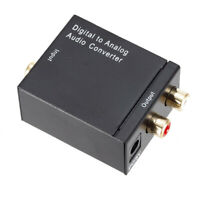 Optical Digital Stereo Audio SPDIF Toslink Coaxial Signal to Analog Adapter #SO4