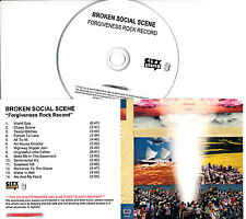 BROKEN SOCIAL SCENE Forgiveness Rock Record UK 14-trk watermarked promo test CD