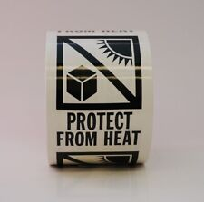 Protect From Heat Labels 3 X 4 500 Per Roll Shipping Label