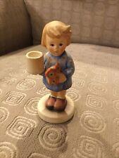 "New ListingGoebel Hummel Girl Figurine Advent Candle & Posy Holder 3 1/2"" Tall #115"