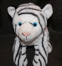"Albino Tiger Cub Wild Republic K M Black White Blue Eyes Soft Plush 10"" Toy 2013"