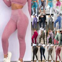 Women Seamless Leggings High Waist Yoga Pants Push Up Workout Gym Sports Fitness